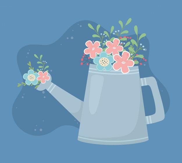 Decorazione di fiori e foglie di giardinaggio di spruzzatore