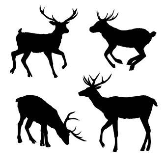 Decorazione eleganza oggetto cornuto ombra buck daina grande cervo vintage carina incisione pezzata