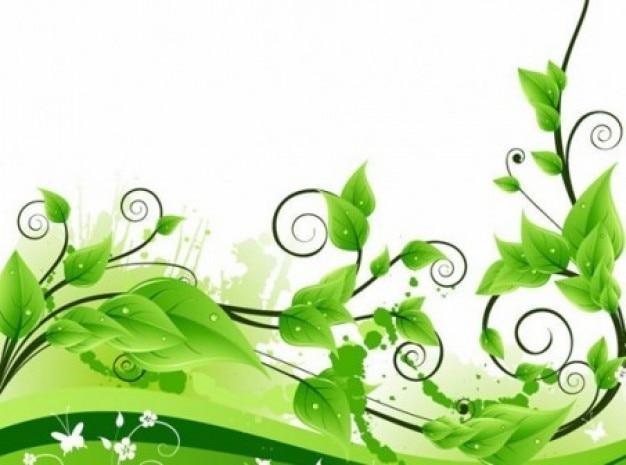 Decorazione vegetale turbolenza su sfondo bianco