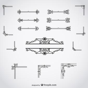 Decorazioni calligrafiche set
