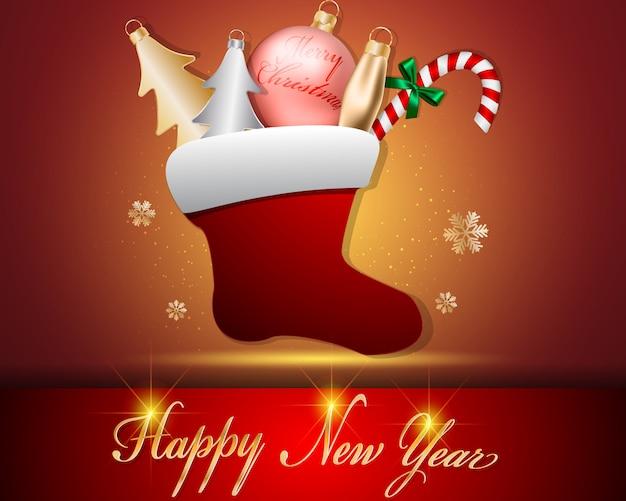 Decorazioni calzino natalizio e accessori palla