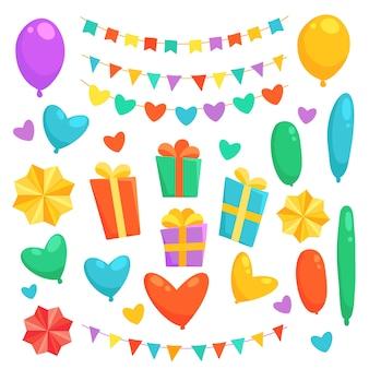 Decorazioni colorate per il compleanno