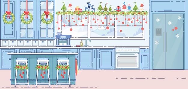 Decorazioni di natale interni cucina