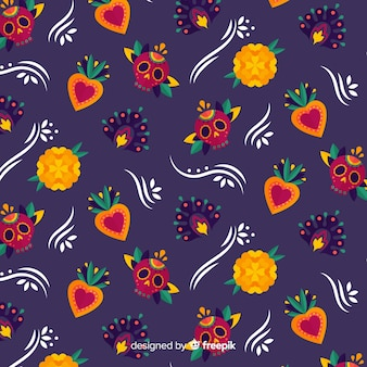 Decorazioni messicane dia de muertos pattern
