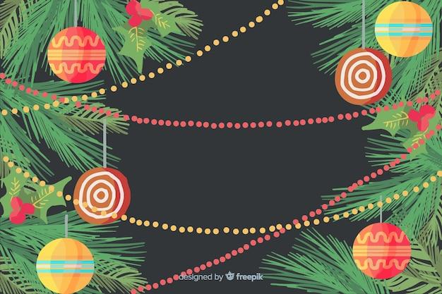 Decorazioni natalizie ad acquerello