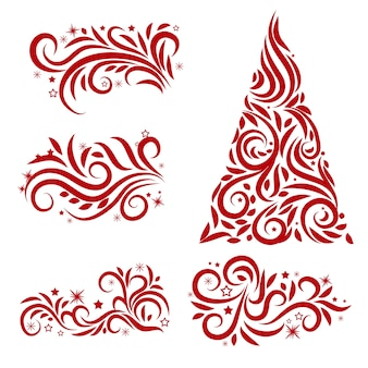 Decorazioni natalizie calligrafiche