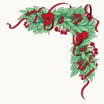 Decorazioni natalizie con cornice in abete