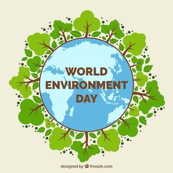 Del mondo di fondo giornata ambientale con alberi