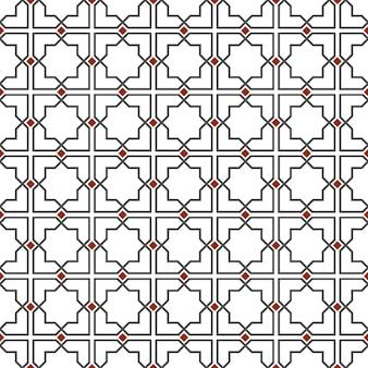 Delicato modello senza cuciture in stile islamico