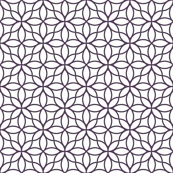Delicato motivo floreale monocromatico senza soluzione di continuità in stile orientale