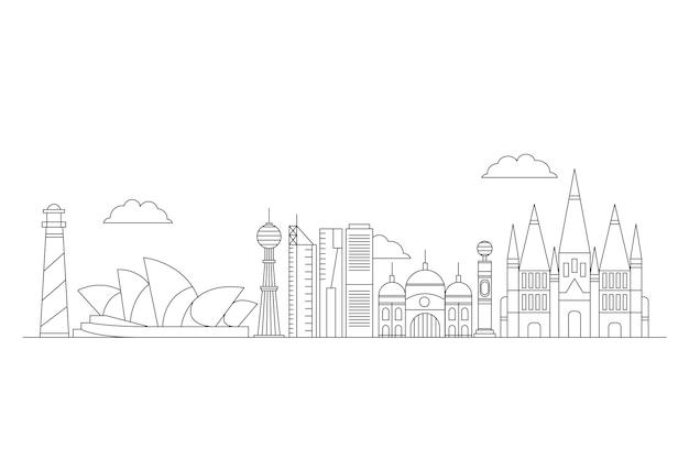 Delineare i monumenti sullo skyline del turismo