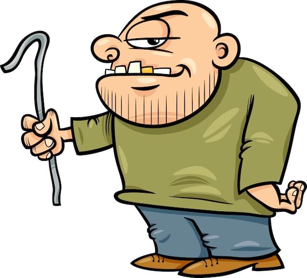 Delinquente con illustrazione di cartone animato jemmy