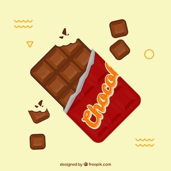 Tavoletta Di Cioccolato Disegno.Deliziosa Tavoletta Di Cioccolato Al Latte Vettore Gratis