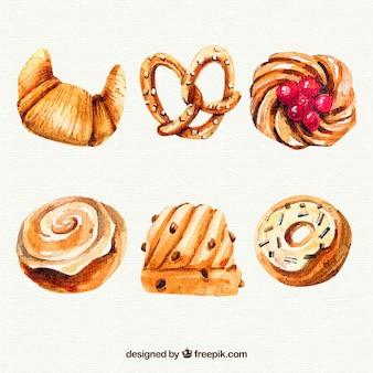 Deliziosi dolci ad acquerelli