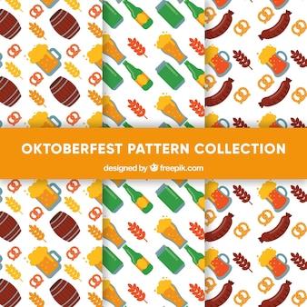 Deliziosi modelli di cibo e bevande della collezione oktoberfest