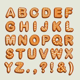 Delizioso alfabeto dalla a alla z di pan di zenzero