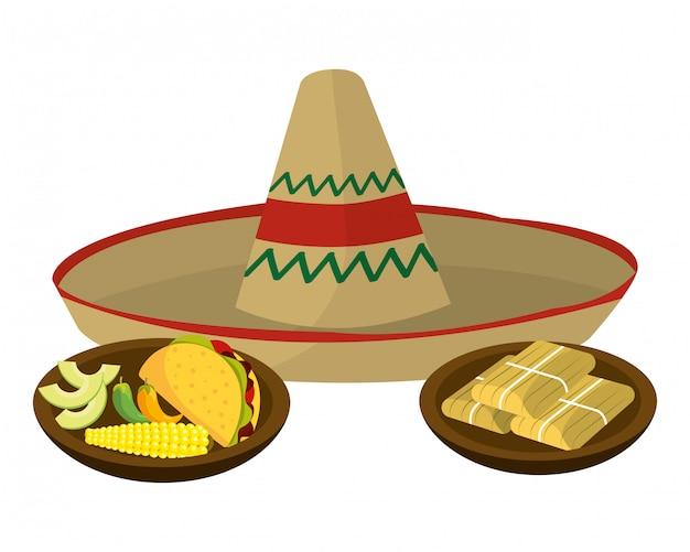 Delizioso cartone animato cibo messicano