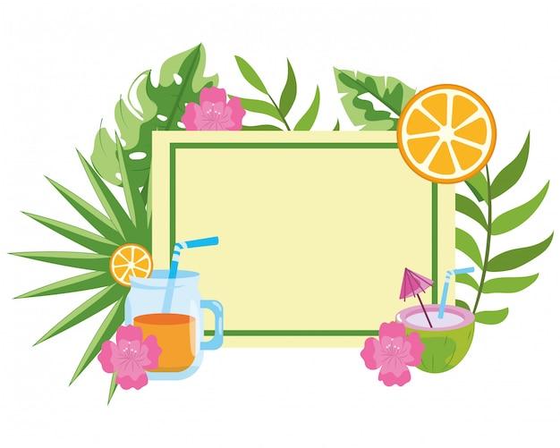 Delizioso cartone animato di succo fresco