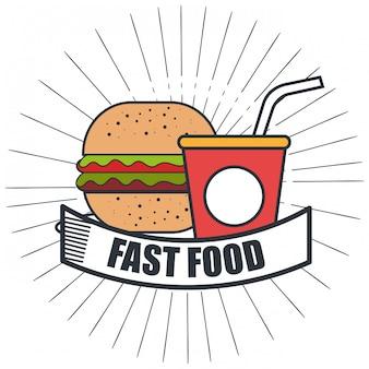 Delizioso disegno dell'icona isolato hamburger