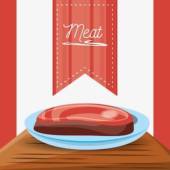 Delizioso menù di carne alla griglia