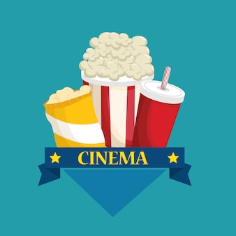 Delizioso menu di cibo cinematografico