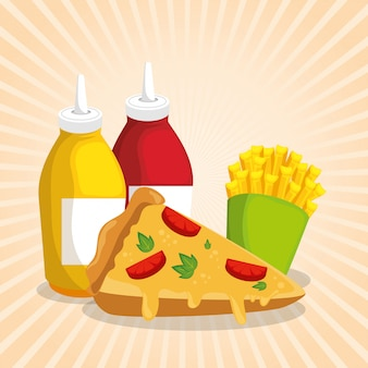 Delizioso menu di fast food
