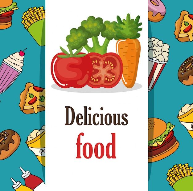 Delizioso menu fast food