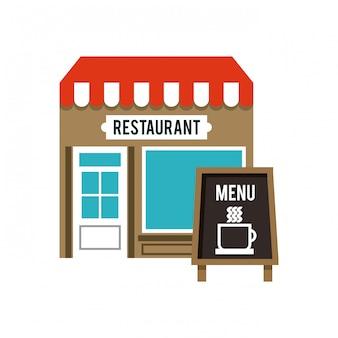 Delizioso menu ristorante urbano