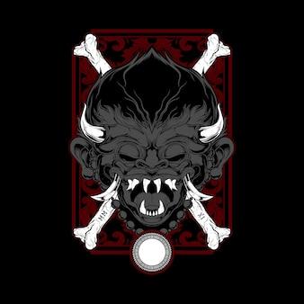 Demone disegno a mano