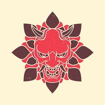 Demone maschera giapponese vintage