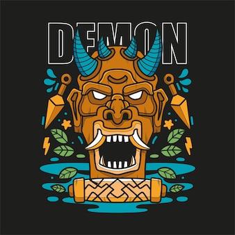 Demone tshirt design