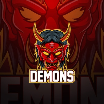 Demoni esport logo design mascotte