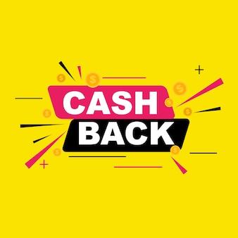Denaro cashback con monete dollaro d'oro