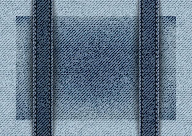 Denim blu con righe verticali