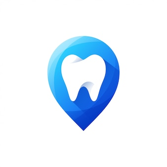 Dente logo design illustrazione vettoriale