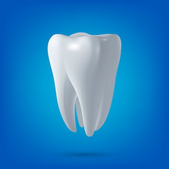 Dente, rendering 3d. odontoiatria, medicina, elemento di salute.