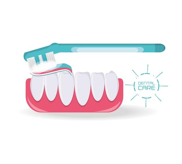 Denti di cure dentistiche igiene sanitaria e medica