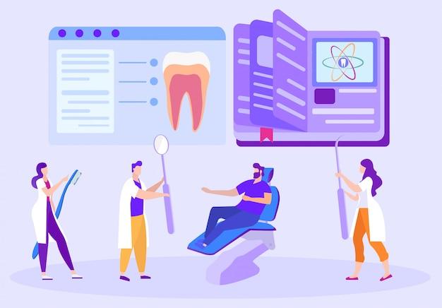 Dentisti con strumento in mano. p