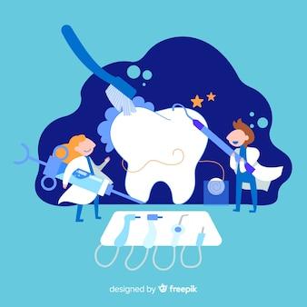 Dentisti prendersi cura di uno sfondo di dente