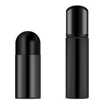 Deodorante bottiglia vettoriale. bomboletta spray cosmetica