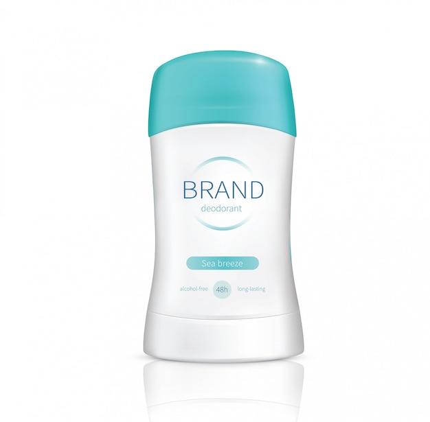 Deodorante realistico bastone asciutto vettoriale