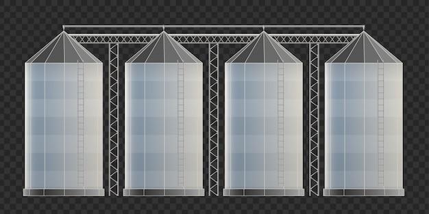 Deposito di silo agricolo, elevatore di grano.