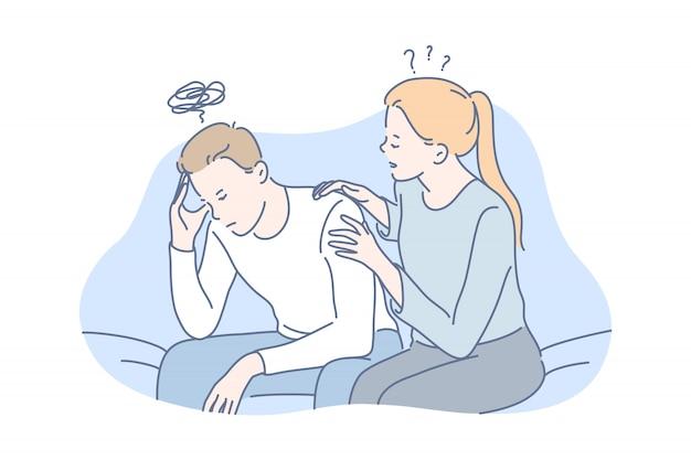 Depressione, frustrazione, concetto di supporto