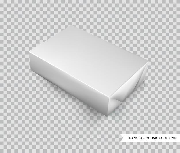 Derisione isolata llustration di imballaggio per alimenti della stagnola bianca in bianco sul pacchetto del modello pronto per progettazione su ordinazione