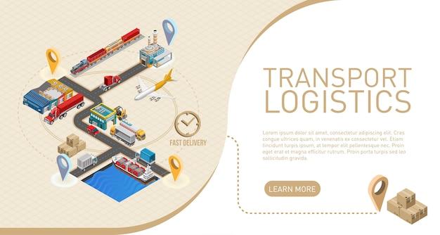 Descrizione della logistica dei trasporti vicino allo schema