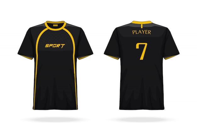 Descrizione maglietta da calcio modello girocollo in jersey