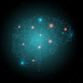 Design a cervello basso poli con punti di collegamento