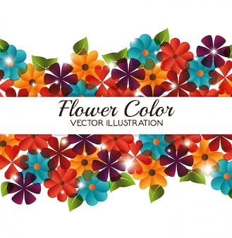 Design a colori di fiori