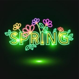 Design al neon di primavera