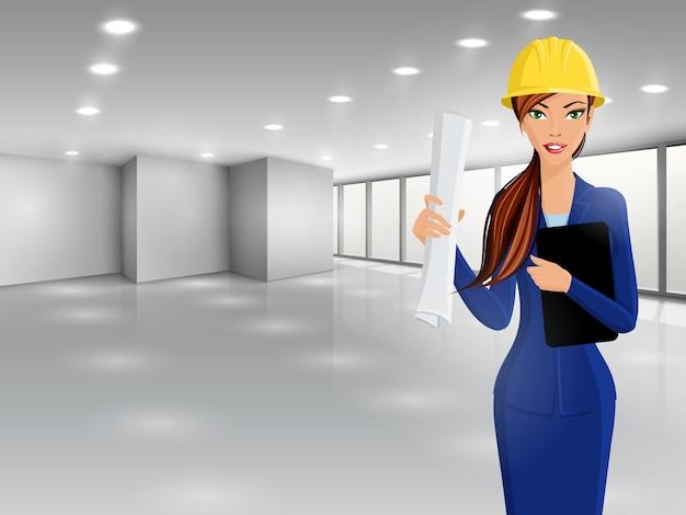 Design architettonico donna sfondo